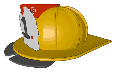 Safety helmets are mainly used in mining power construction industrial working They protect the user heads against impact from falling object vector color drawing or illustration Ilustração