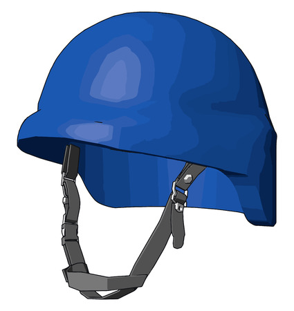 A hard hat is type of helmet mainly used in work place like industry construction sites to protect the head from injury due to falling objects vector color drawing or illustration