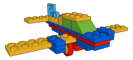 An object for a child to play with typically a model or miniature replica of something vector color drawing or illustration