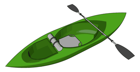 Sea kayaks are seaworthy small boats with a covered desk and the ability to incorporate a spray desk vector color drawing or illustration
