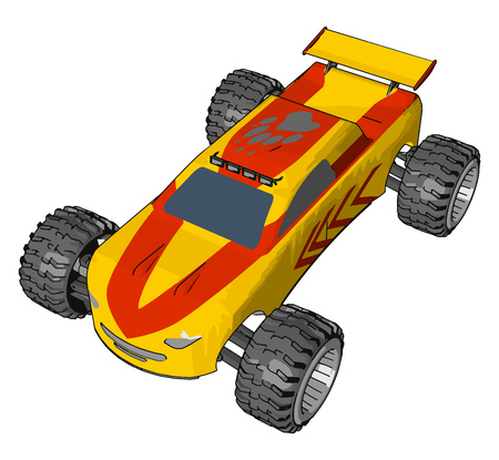 A model vehicle or toy vehicle is a miniature representation of an automobile vector color drawing or illustration