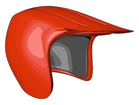 Helmet made up of strong material used in driving motorcycle cycle or scooty It gives protection from head injury in case of accident vector color drawing or illustration