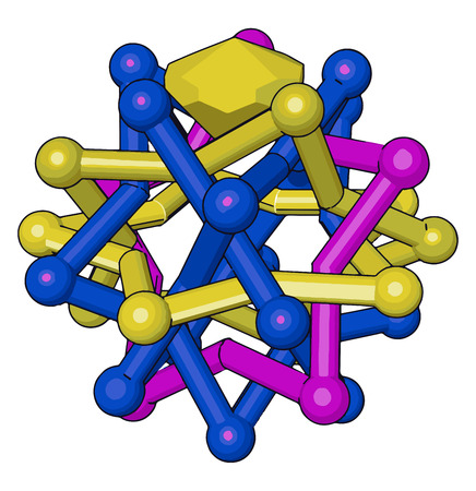 Diamond has a giant covalent structure in which each carbon atom is joined to four other carbon atoms by covalent bonds vector color drawing or illustration Ilustração