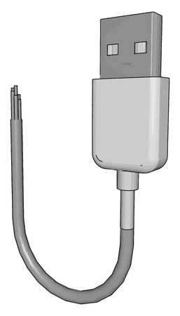 It is used for connection communication and power supply between personal computers and their peripheral devices vector color drawing or illustration