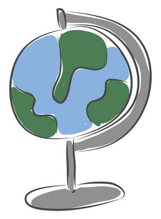 Simple picture of the globe vector illustration on white background