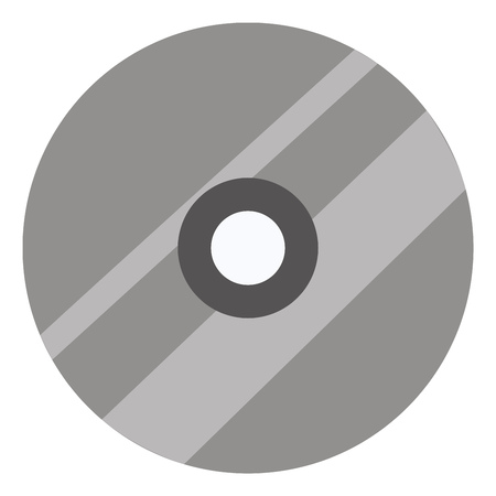Simple vector illustration of a grey cd on white background Illustration