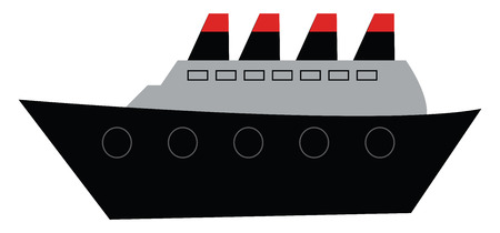 Clipart of the famous ship titanic on its maiden voyage vector color drawing or illustration