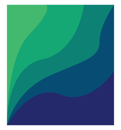 A line painting in green and blue color shades vector color drawing or illustration Vectores