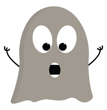 Light grey scarry ghost vector illustration on white background Ilustrace