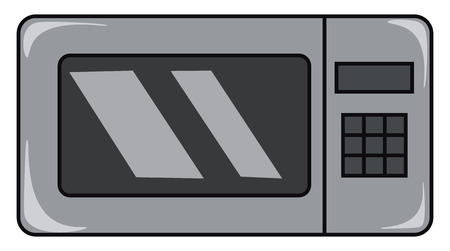 A gray colored microwave with buttons vector color drawing or illustration Ilustrace