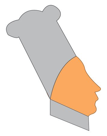 A character resembling a chef vector color drawing or illustration