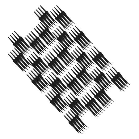 A drawing of a black textured patch vector color drawing or illustration Illusztráció