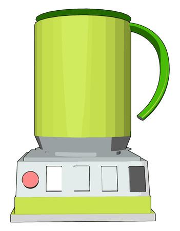 Simple vector illustration of an yellow blender white background Illustration