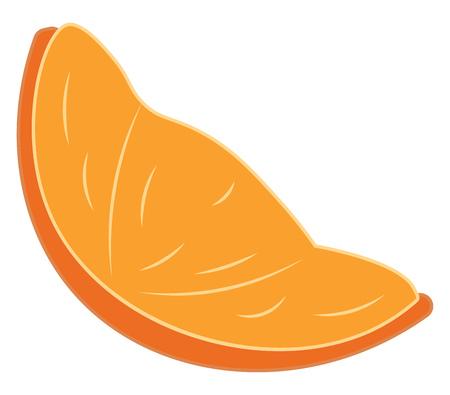 An image of a sliced orange vector color drawing or illustration