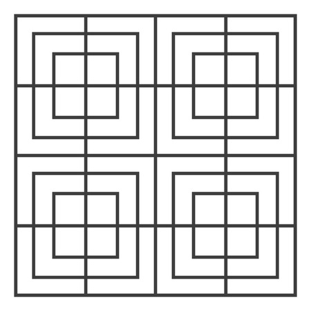 A pattern in which a square is drawn inside another square vector color drawing or illustration