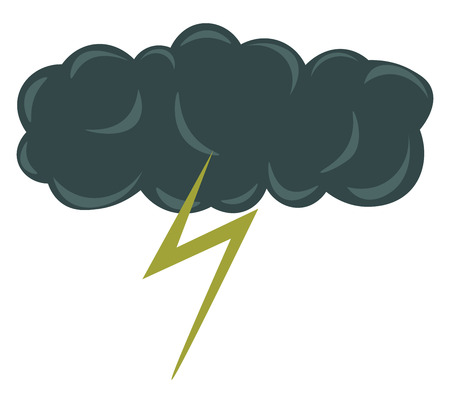Dark thundercloud symbolizing adverse weather conditions vector color drawing or illustration