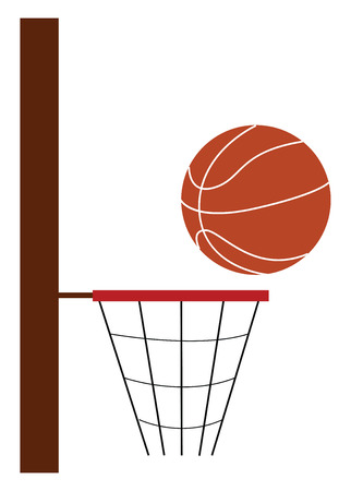 Basketball game vector or color illustration