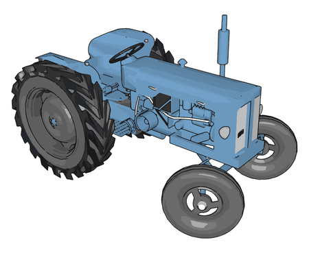 Blue tractor vector illustration on white background Banque d'images - 123462030