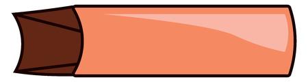 A brown rectangular paper bag vector color drawing or illustration