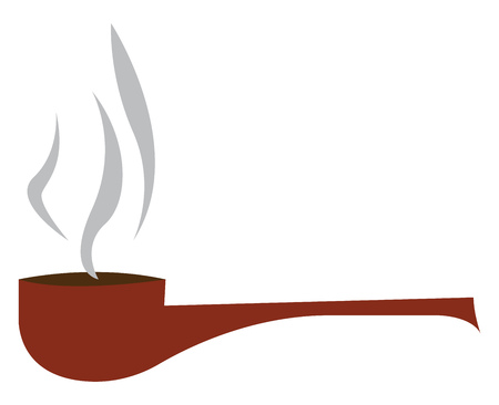 An image in which smoking fumes are coming out of a smoking pipe vector color drawing or illustration Ilustrace
