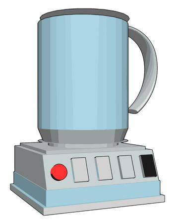 Simple vector illustration of an blue blender white background Stock fotó - 123462097