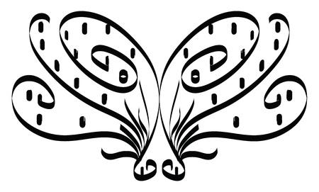 An animal shaped black mask vector color drawing or illustration Stok Fotoğraf - 120925740