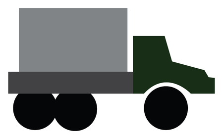 A big commercial vehicle used for transporting goods vector color drawing or illustration