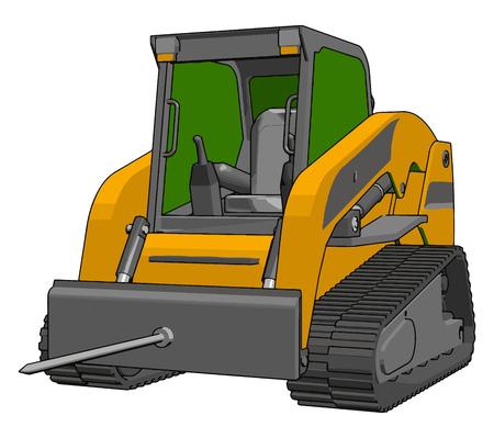 Bale transportation vehicle vector illustration on white background