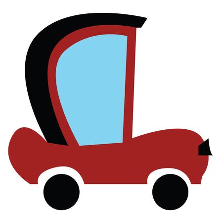 A vintage motor car vector or color illustration