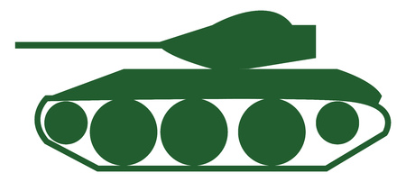 Clipart of an army tanker machine use in warfront vector color drawing or illustration Иллюстрация