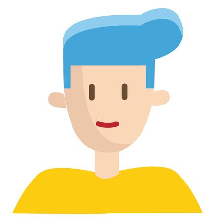 Boy with ble hair vector illustration on white background 版權商用圖片 - 120989508