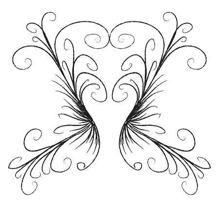 A minimalistic line drawing with several curls vector color drawing or illustration Ilustração