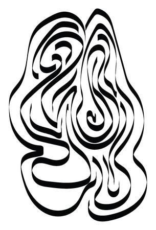 A sketch of a huge maze vector color drawing or illustration Ilustração