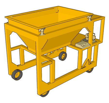 Bag filling machine vector illustration on white background