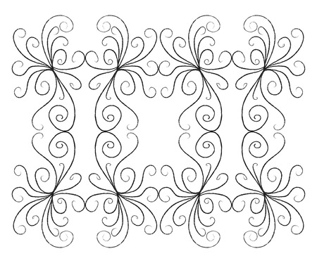 A monochromatic two dimensional line art of several curves vector color drawing or illustration Illusztráció