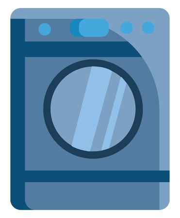 Washing machine simple image illustration color vector on white background