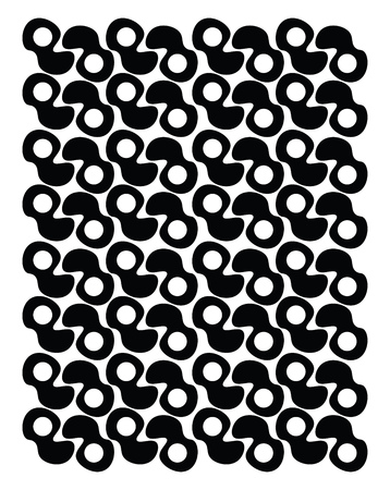 A black and white pattern vector color drawing or illustration