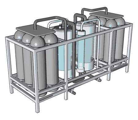 Temperature controlled storage containers for liquid vector illustration on white background