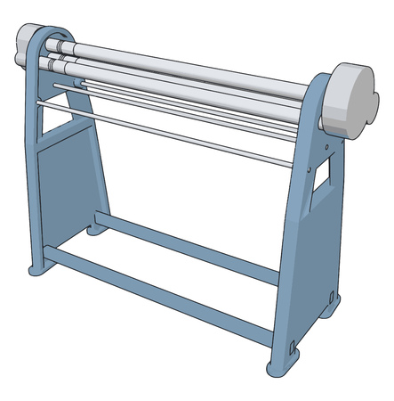 Manual press brake vector illustration on white background