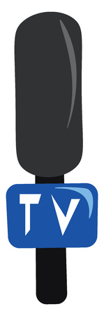 A reporter microphone with TV written on it vector color drawing or illustration