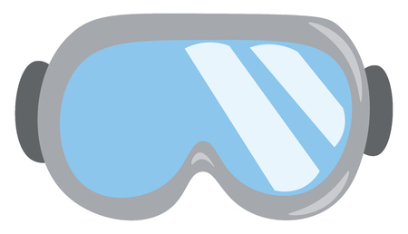 An image of ski goggles with gray frame vector color drawing or illustration
