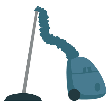 Blue vacuum cleaner illustration color vector on white background