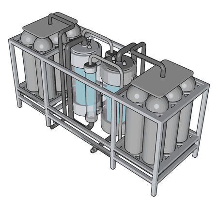 Temperature controlled storage containersfor liquid vector illustration on white background