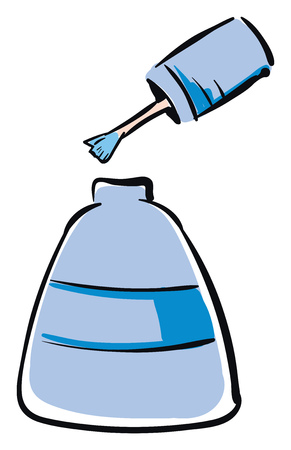 Light blue nailpolish vector illustration on white background