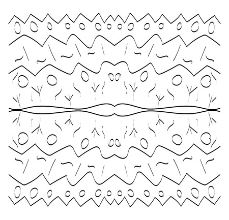 A line drawing of several circles and lines vector color drawing or illustration