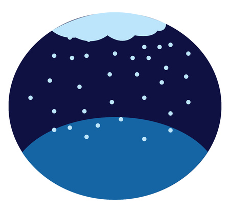 A drawing of snow fall during night vector color drawing or illustration 写真素材 - 123462699