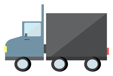 A goods truck used for transporting commercial purpose vector color drawing or illustration Illustration