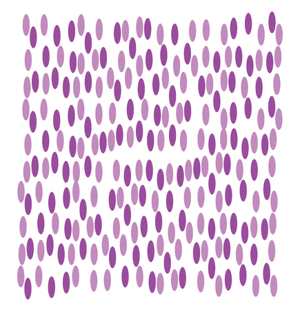 A design of pink and purple ovals arranged in a random pattern vector color drawing or illustration