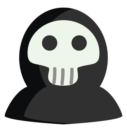 Halloween death mask vector illustration on white background Ilustração