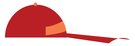 A red colored cap vector color drawing or illustration